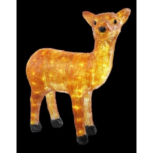 Светодиодная фигура Оленёнок золотой LED 3D арт. 31 608