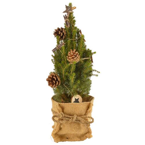 Коника в джуте с деревянной гирляндой арт. 20636