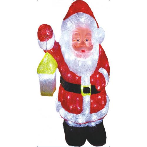 Светодиодная LED фигура Санта с лампой LED 3D 46 см арт. 31 502