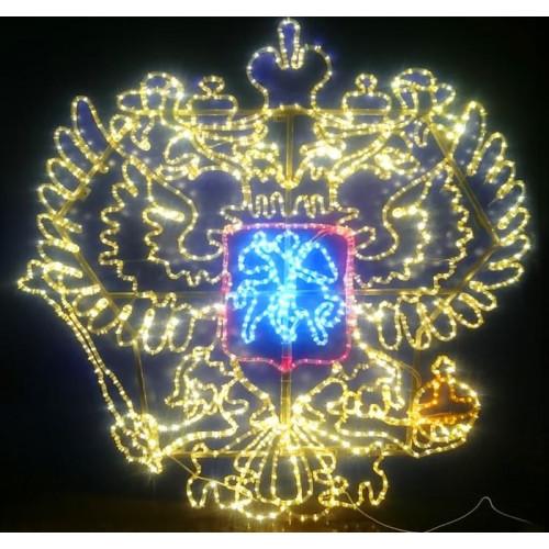 """Фигура из дюралайта """"Герб России""""  155×157 см"""