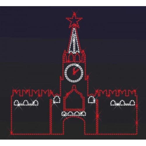 """Фигура из дюралайта """"Кремль""""  150×155 см"""