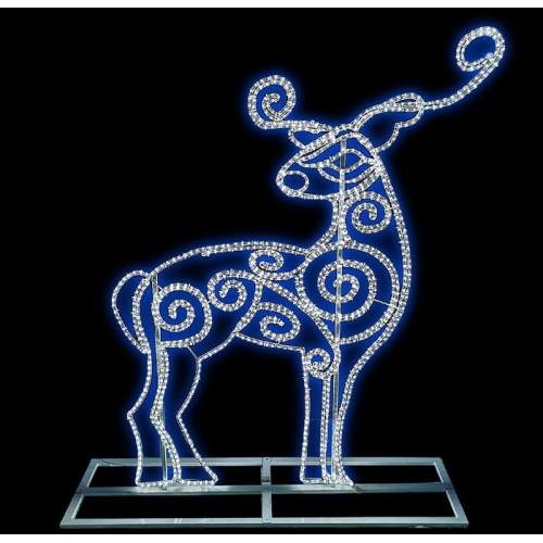 """Фигура из дюралайта """"Северный олень"""" 160х150 см"""