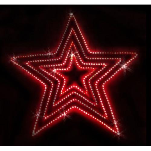 """Фигура из дюралайта """"Пятиконечная звезда"""" 85×81 см"""