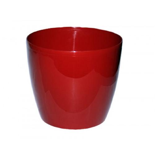 Кашпо красное пластик