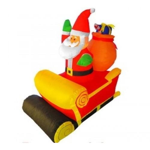 Надувные фигуры Дед мороз в санях 1,2 м арт. 31 205