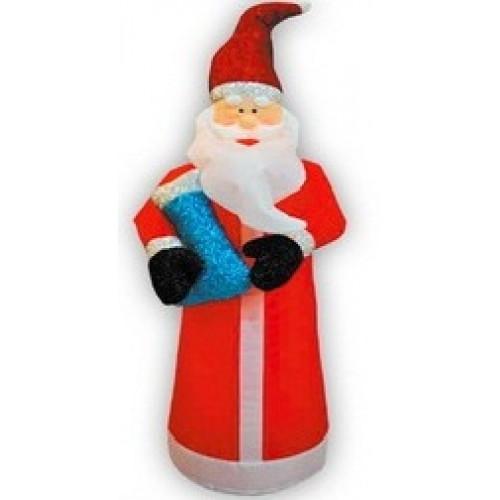 Надувная фигура Дед Мороз с подарком 1,2 м арт. 31 183