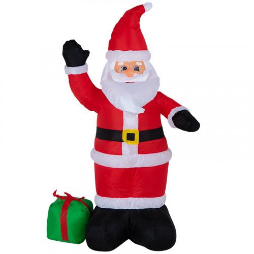 """Надувная фигура """"Дед мороз с подарком"""" 1,2 м"""