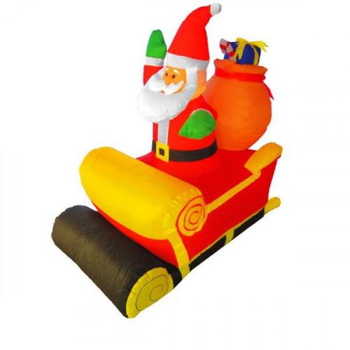 """Надувная фигура """"Дед мороз в санях"""" 1,2 м"""