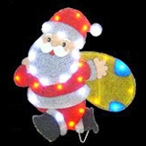 """Световое панно """"Дед Мороз с мешком подарков"""" арт. 31 414"""