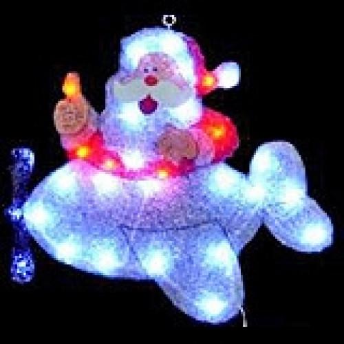 "Светодиодное панно ""Дед Мороз в самолете"" арт. 31 415"