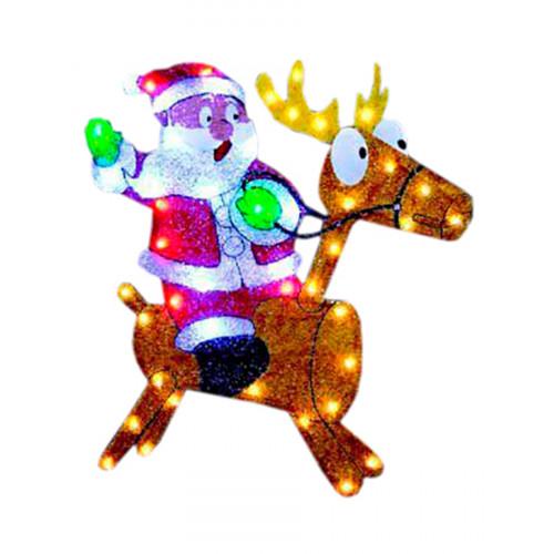 "Световое панно ""Санта на олене"" 61х67 см"