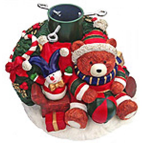 """Подставка для ёлки """"Рождественский медвежонок"""" до 2м"""