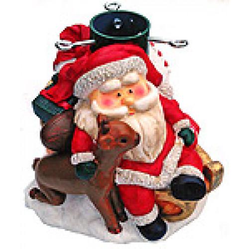 """Подставка """"Санта с оленем"""" для ёлки высотой до 1,8 м"""