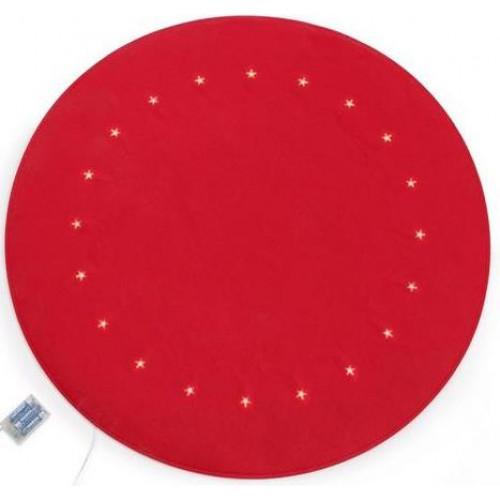 """Коврик""""Красный"""" из искусственного войлока со светодиодами"""