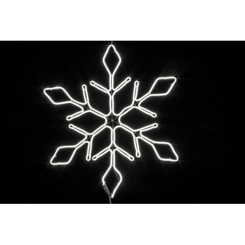 Снежинка неоновая 67 см