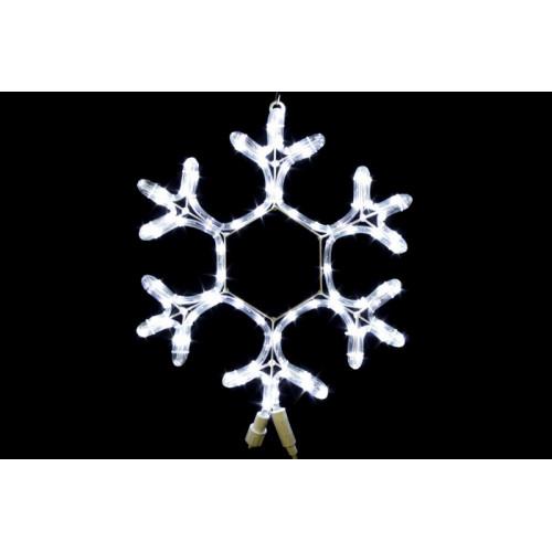 Снежинка из дюралайта Белая 40 см