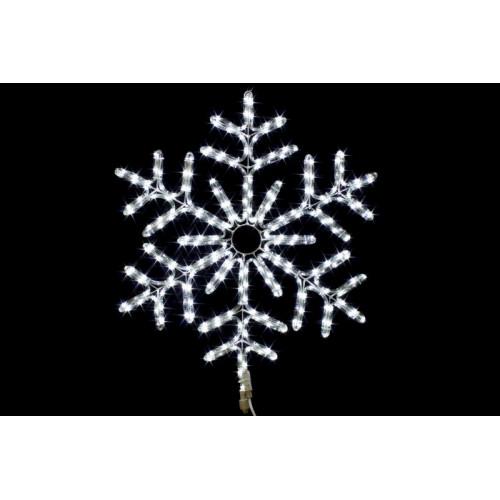 Снежинка светодиодная Холодный белый 67 см
