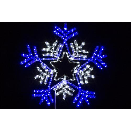 Снежинка светодиодная 65см