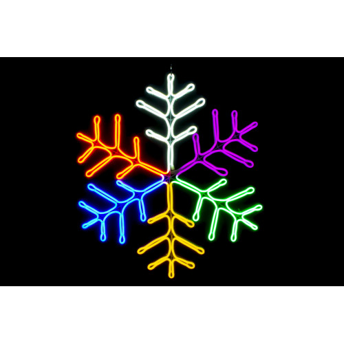 Снежинка неоновая Мульти 60 см