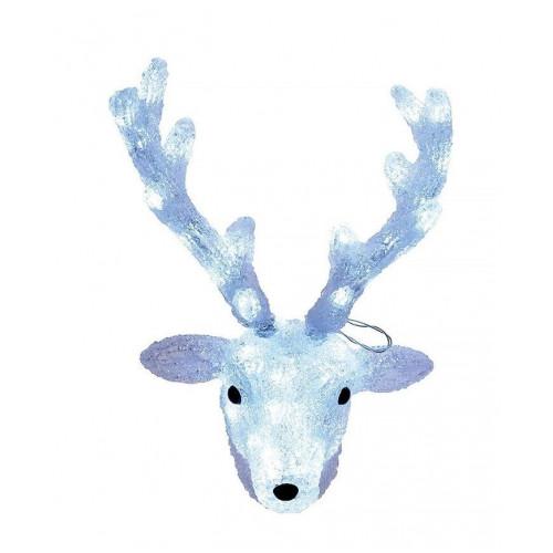 Светодиодная LED фигура Голова оленя 45 см
