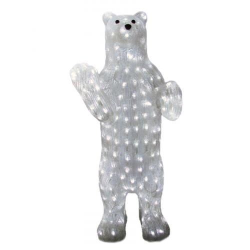 Светодиодная акриловая фигура Медведь 70 см
