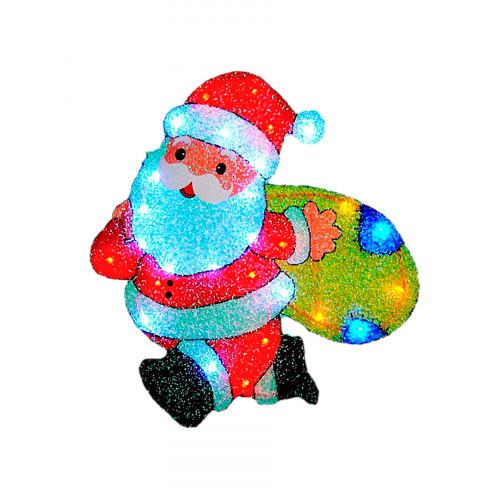 "Световое панно ""Санта с мешком подарков"" 48 х 57 см"