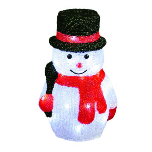 Светодиодная LED фигура Снеговик 27 см