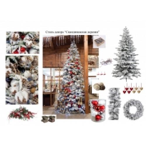 Дизайн новогодней елки 4-5 м